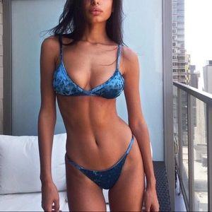 blue velvet bikini
